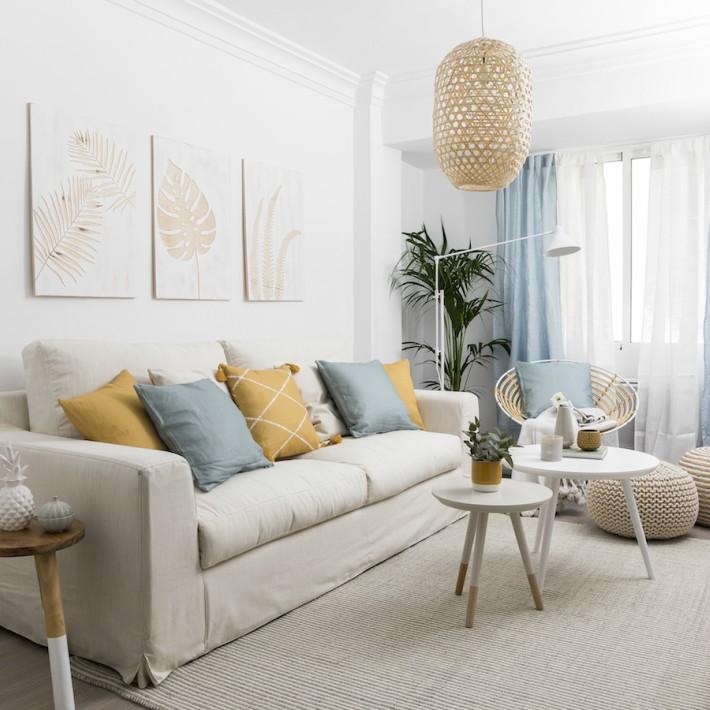 Decoracion Facil Un Apartamento Con Una Decoracion Natural Y Fresca - Decoracion-apartamentos
