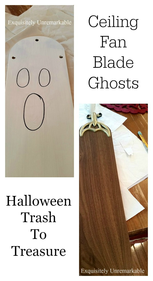Make a wooden ghost for Halloween from an old ceiling fan blade. Here's how.