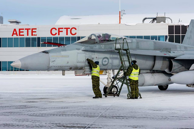 First interim Hornet fighter jets arrive in Cold Lake, Canada
