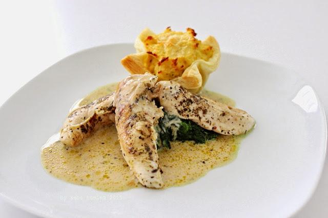 Hühnerfiletspitzen an Rahmsauce von Kebo
