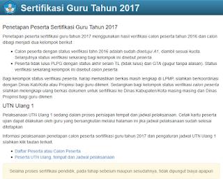 Peserta Sertifikasi Guru Tahun 2017
