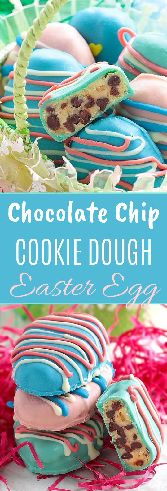 Easter Egg Cookie Dough Truffles #dessert #truffles