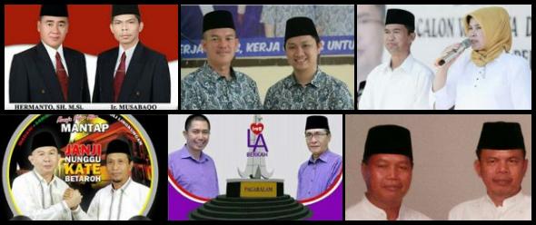 Enam pasang calon walikota dan wakil walikota Kota Pagar Alam 2018