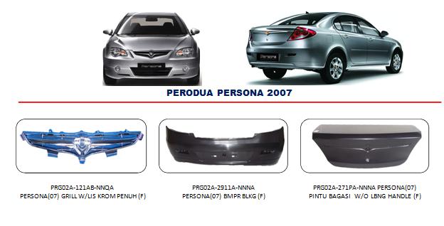 Bodypart Perodua Persona 2004-2007