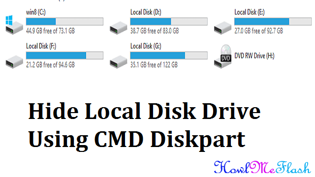 Hide Local Disk Drive Using CMD Diskpart