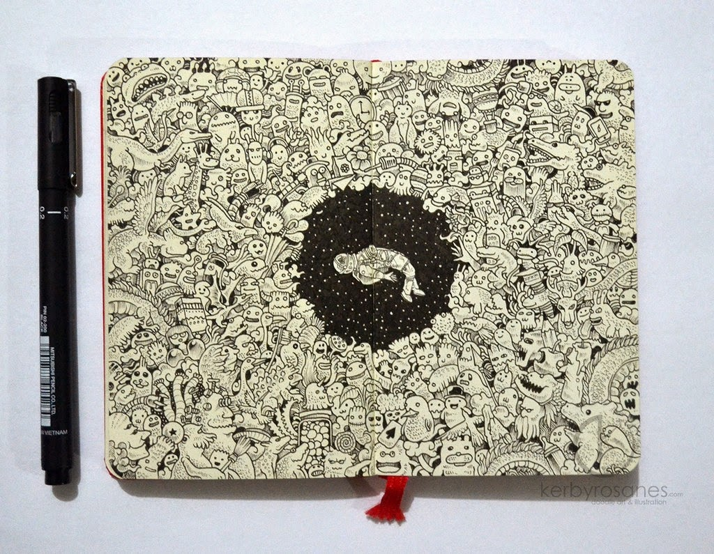 05-Black Hole-Kerby-Rosanes-Detailed-Moleskine-Doodles-Illustrations-and-Drawings-www-designstack-co