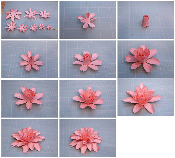Bits of paper spring flowers this flower is quick and easy to cut and assemble the files are compatible with both the 8x12 and 12x12 mats mightylinksfo