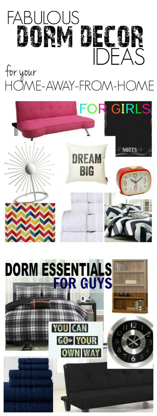 Inspiration and ideas for back to school College living in the dorm!