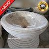 Wastafel marmer tulungagung bulat motif ulir asli batualam diameter 40 cm