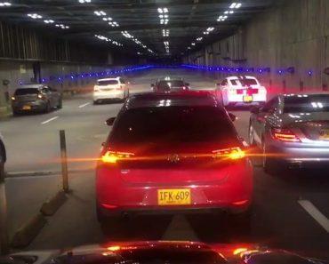 Un gros crash pendant une course illégale dans un tunnel