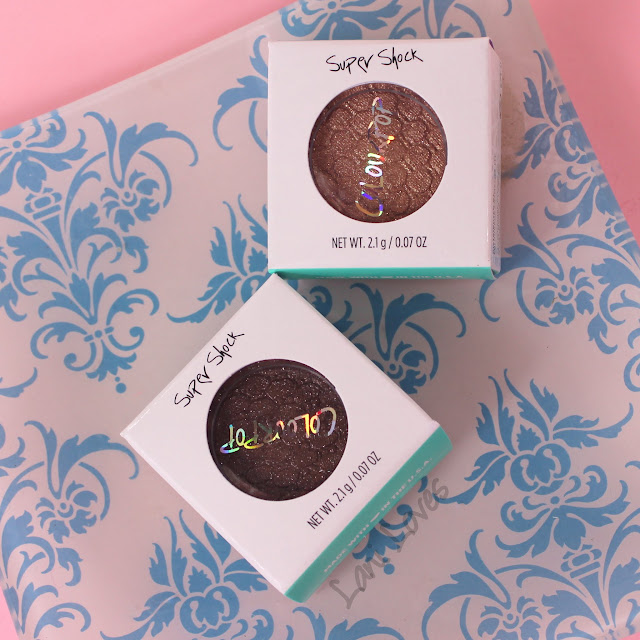 ColourPop Super Shock shadows - Amaze and 3 Swatches & Review