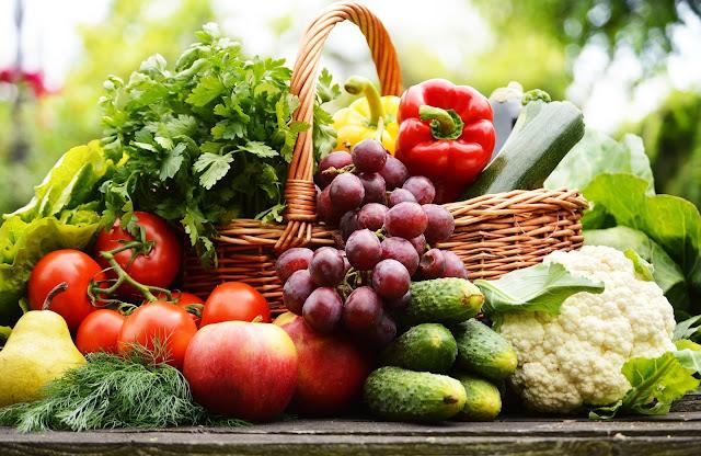 Buah serta sayuran yang tidak dicuci