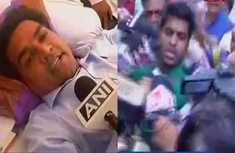 kapil-mishra-attacked-by-aap-worker-during-satyagraha
