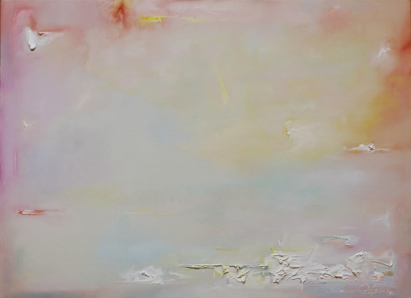 Obraz abstrakcyjny, delikatny, w pastelowych barwach, do sypialni