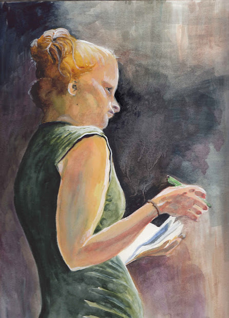 Profile Watercolor Paintings Women