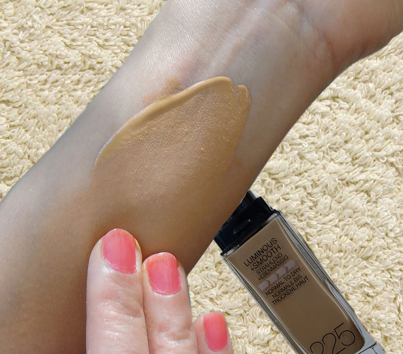Coverage & Finishing of Maybellin Fit Me Foundation 225