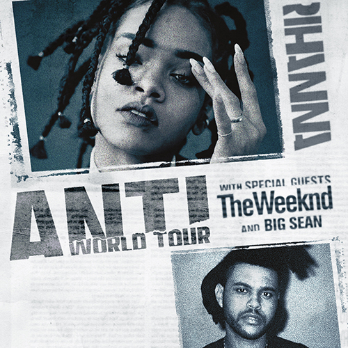 "The Weeknd cancela shows de apertura que haría en el tour ""ANTI"" de Rihanna."