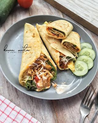 Resep Kulit Kebab Dan Ayam Suwir Simple Ala Rumahan By @konicasumitro
