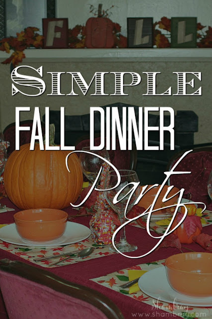 Check every little idea on this fun Fall dinner party.  There are food ideas, decor ideas, playlist ideas, party favor ideas, and much more.