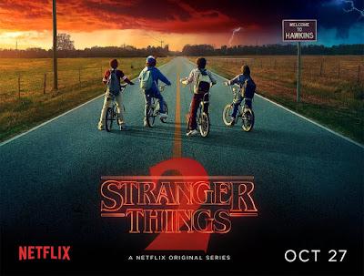 Stranger Things serie de televisión afiche temporada 2