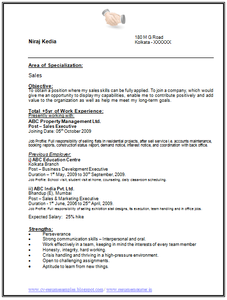 Sample Bio Data Resume Curriculum Vitae Cv Over 10000 Cv And Resume Samples With Free Download I