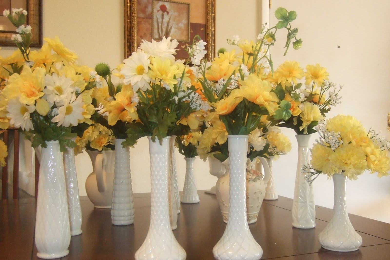 Ana silk flowers ideas milk glass wedding table it is just gorgeous its so chic reviewsmspy