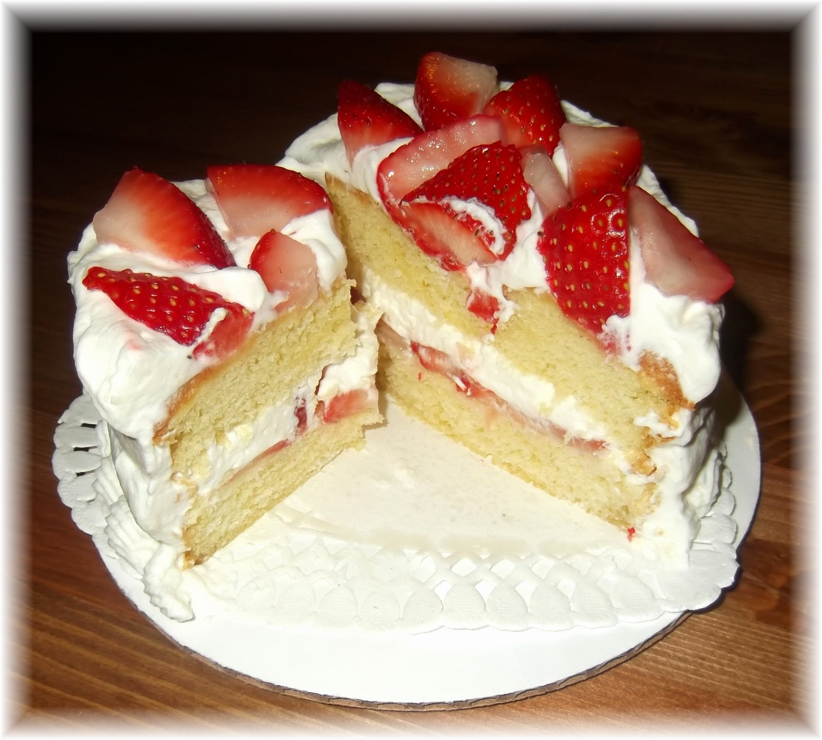Ina Garten Country Cake With Strawberries And Whipped Cream