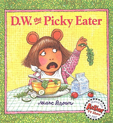 D.W. The Picky Eater, part of children's book review list about picky eaters