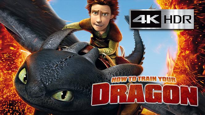 Cómo Entrenar a tu Dragón (2010) 4K UHD [HDR] Latino-Castellano-Ingles