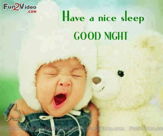 Cute Baby With Teady Bear Wishes Good Night Wallpaper With Message