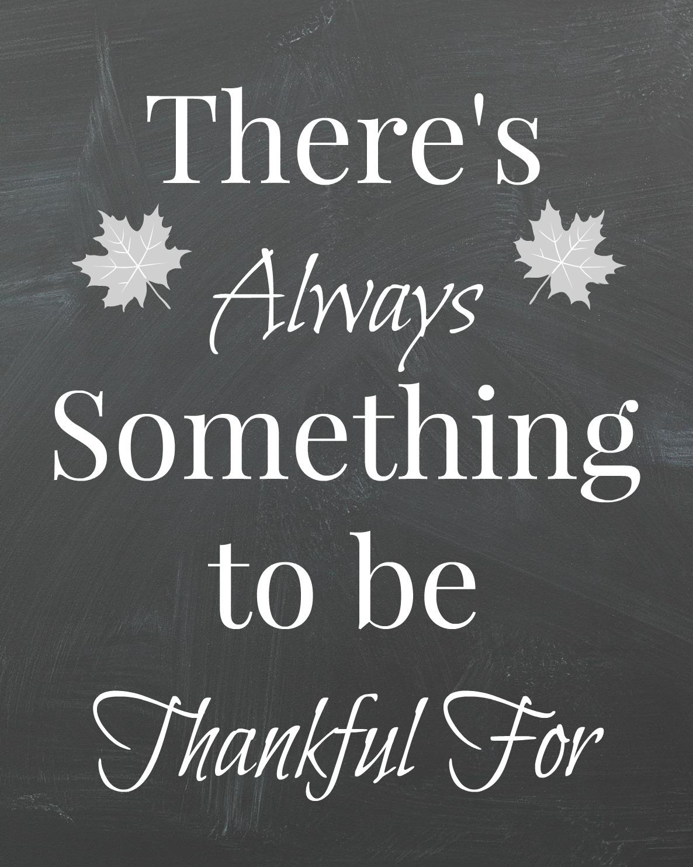 Thankful Chalkboard Printable