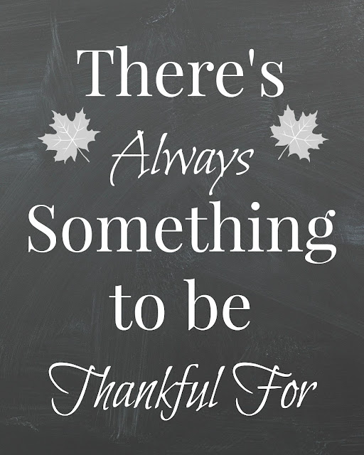 Thankful Chalkboard Printable