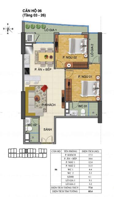 Căn hộ số 06 tòa Trường Thành A- Tràng An Complex