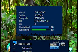 Cara tracking satelit thaicom 5 Cband - 78.50E