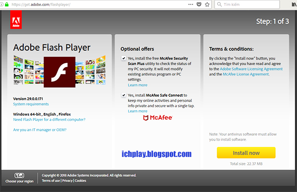 Tải Adobe Flash Player mới nhất 2018 (V 29.0.0.171 Update 08/05/2018) c
