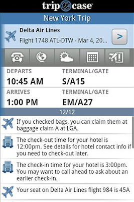 TripCase Android app