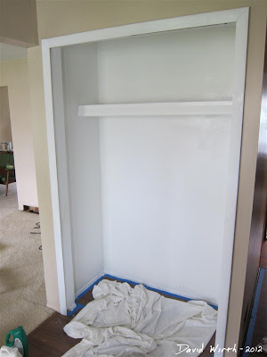 paint closet, make it look like new, white closet paint
