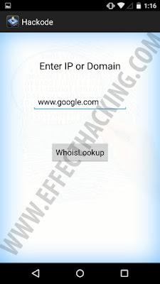 Hackode Whois lookup tool