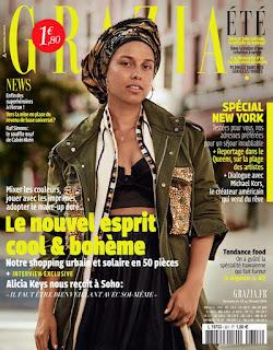 Alicia Keys goes make up less for France's Grazia magazine. See photo spread at JasonSantoro.com
