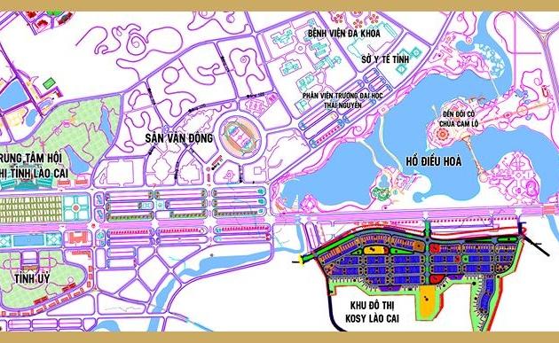 Vị trí toàn khu dự án Kosy Lào Cai