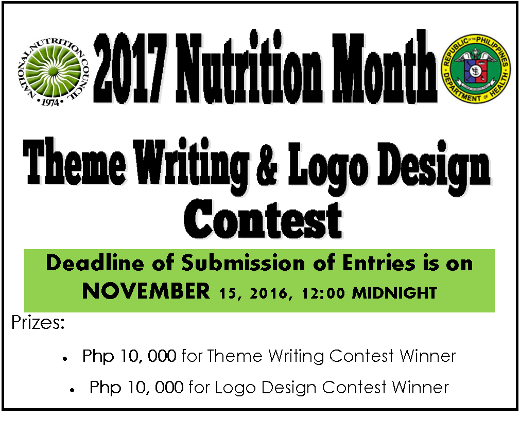 The Contest Will Run From October 1 To November 15 2016 Deadline Of Submission Entries Is At 1200 Oclock Midnight