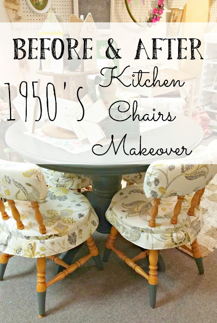 Vintage kitchen chair makeover