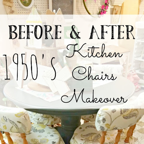 Before and After - 1950's Kitchen Chairs Makeover