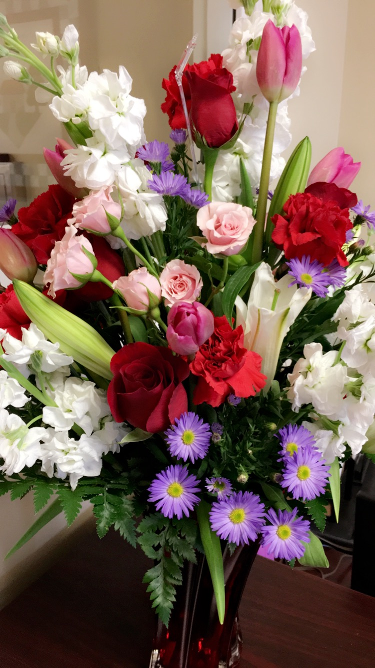 The art of random willy nillyness teleflora brings the love for she got so many comments on how beautiful they were and the vase is amazing this valentines day choose a hand made floral bouquet izmirmasajfo