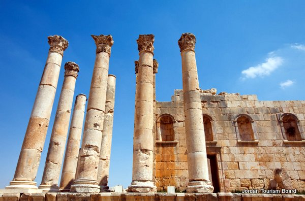 Restos del Templo de Zeus (Jerash, Jordania)