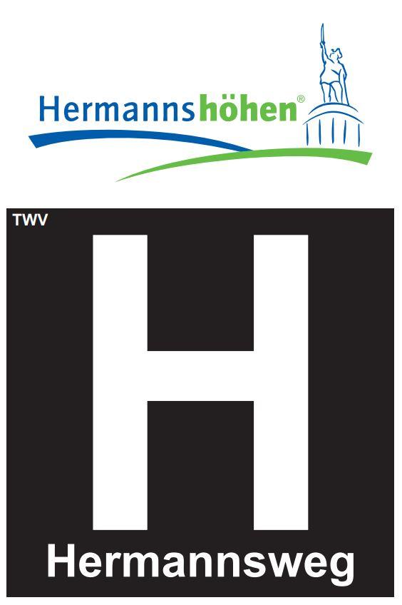 Logo der Hermannshöhen, Abschnitt Hermannsweg