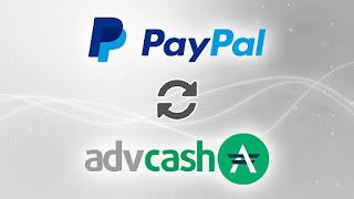 تحويل رصيد Paypal نحو Advcash بواسطة Visa مي شويز