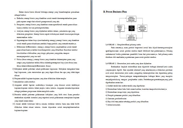 Contoh Makalah Perencanaan Bisnis Business Plan Lengkap Format Docx Microsoft Word Contoh Docs