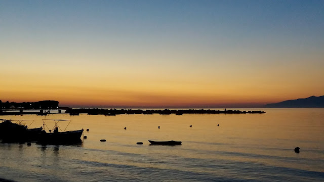 7 Things To Do In Roda, Corfu - sunset over Roda Harbour
