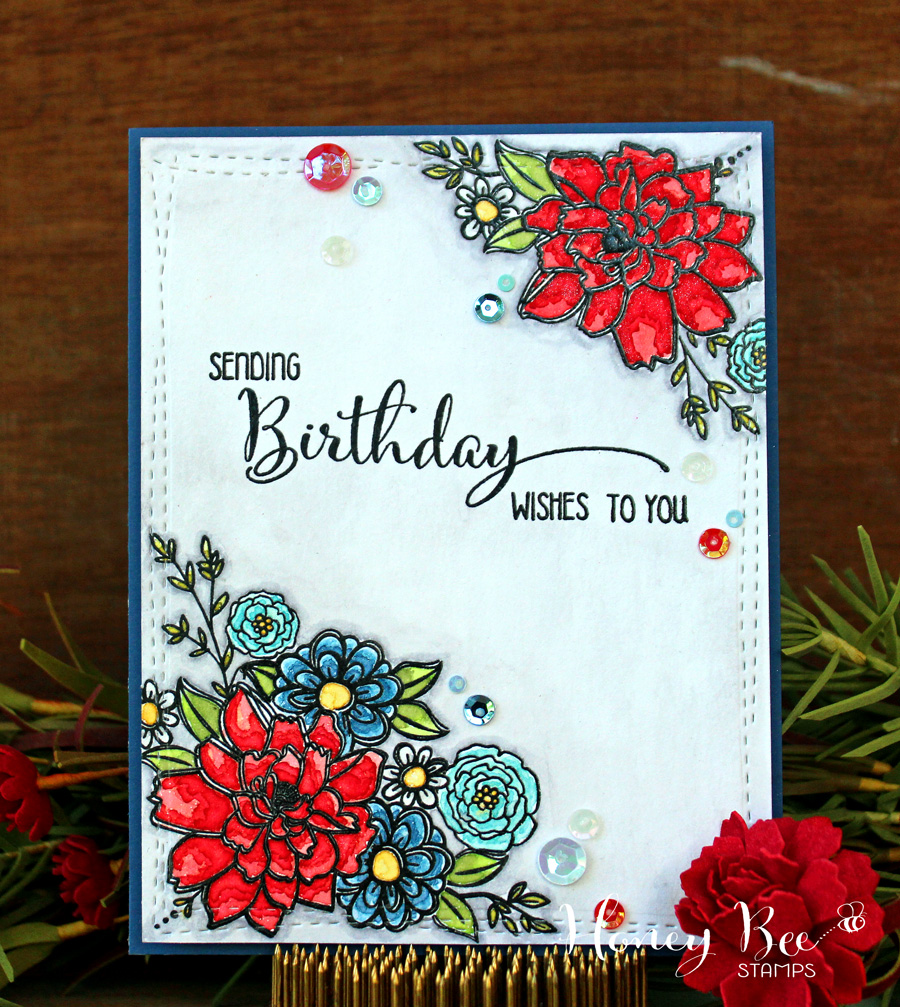 Larissa heskett designs sending red white blue birthday wishes i sure hope youll stop by the honey bee stamps blog to check out how i created it and to leave me some love thanks so much for stopping by and kristyandbryce Gallery
